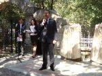 Торжественное  открытие  мемориальной  доски  первым  поселенцам  п. Иноземцево.
