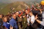 Эстафету  восхождения на гору Бештау приняли  правнуки Победы